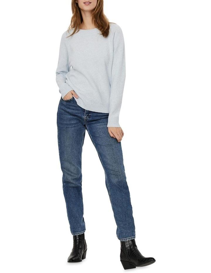 Doffy Blue Fog Long Sleeve O-Neck Knit Pullover image 3