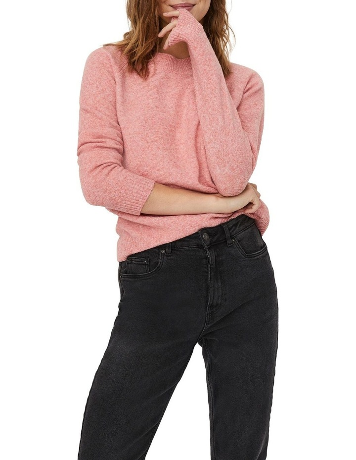 Doffy Coral Long Sleeve O-Neck Knit Pullover image 1