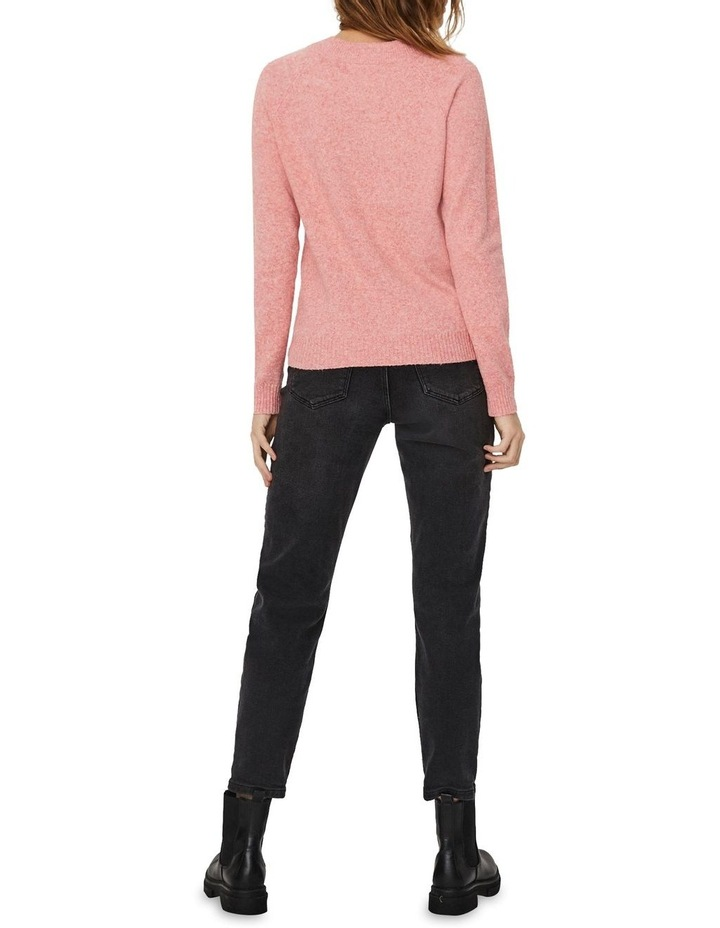 Doffy Coral Long Sleeve O-Neck Knit Pullover image 2