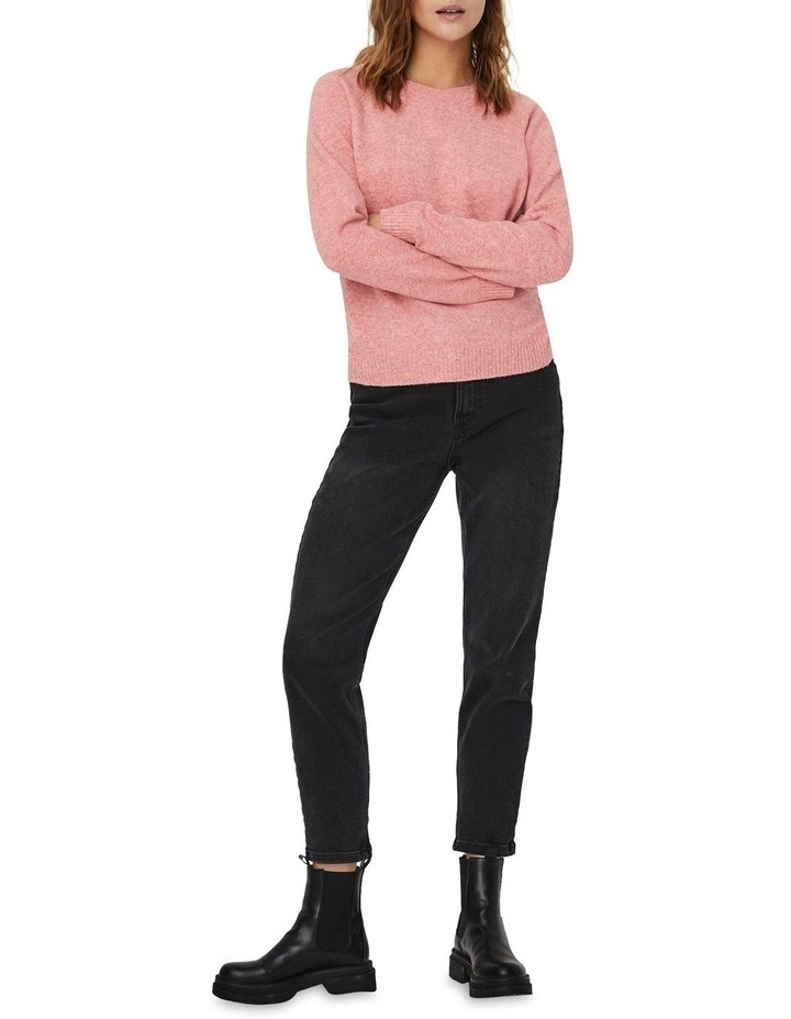 Doffy Coral Long Sleeve O-Neck Knit Pullover image 3