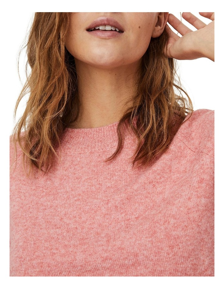 Doffy Coral Long Sleeve O-Neck Knit Pullover image 4
