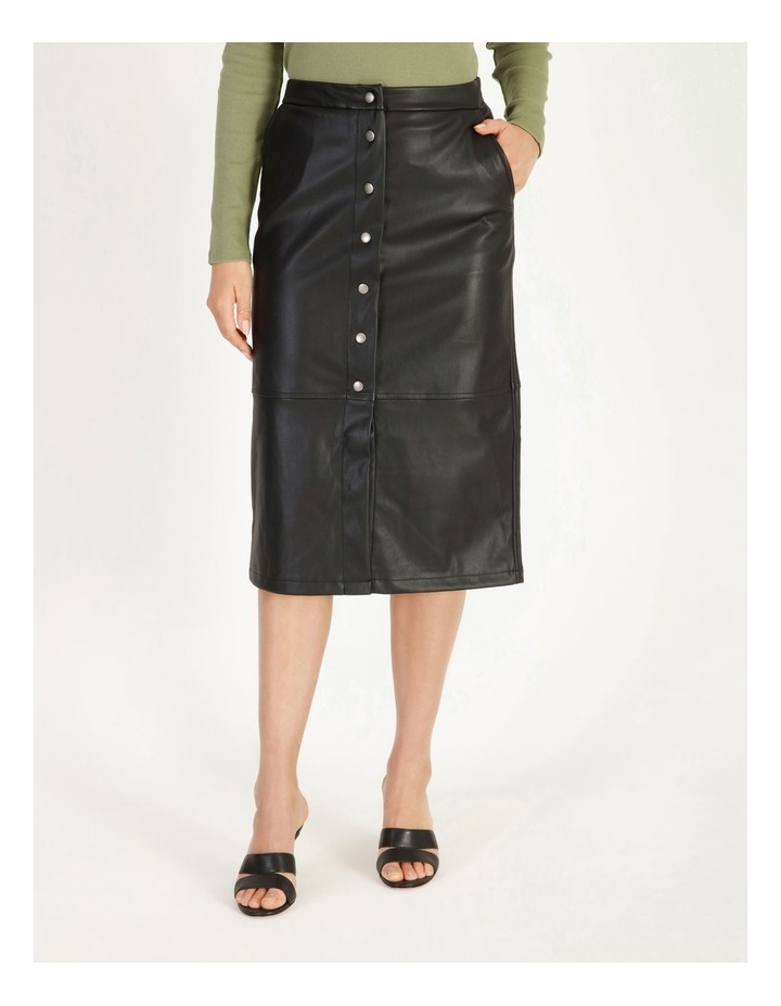 Solanan Coated Calf Skirt image 1