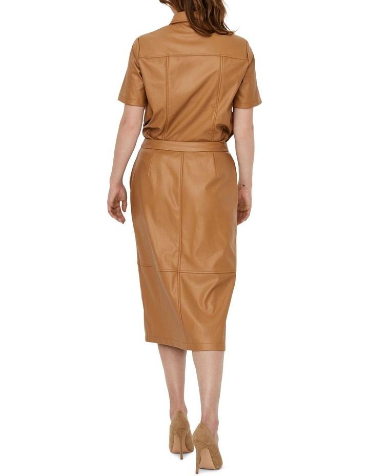 Solanan High Waisted Coated Calf Skirt image 2