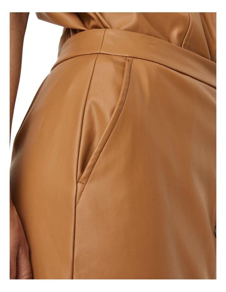 Solanan High Waisted Coated Calf Skirt image 4