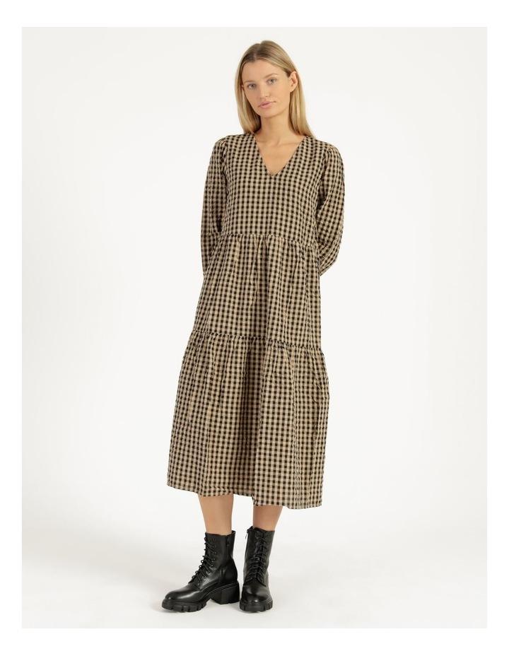 Fillipa 7/8 V-Neck Calf Dress image 1