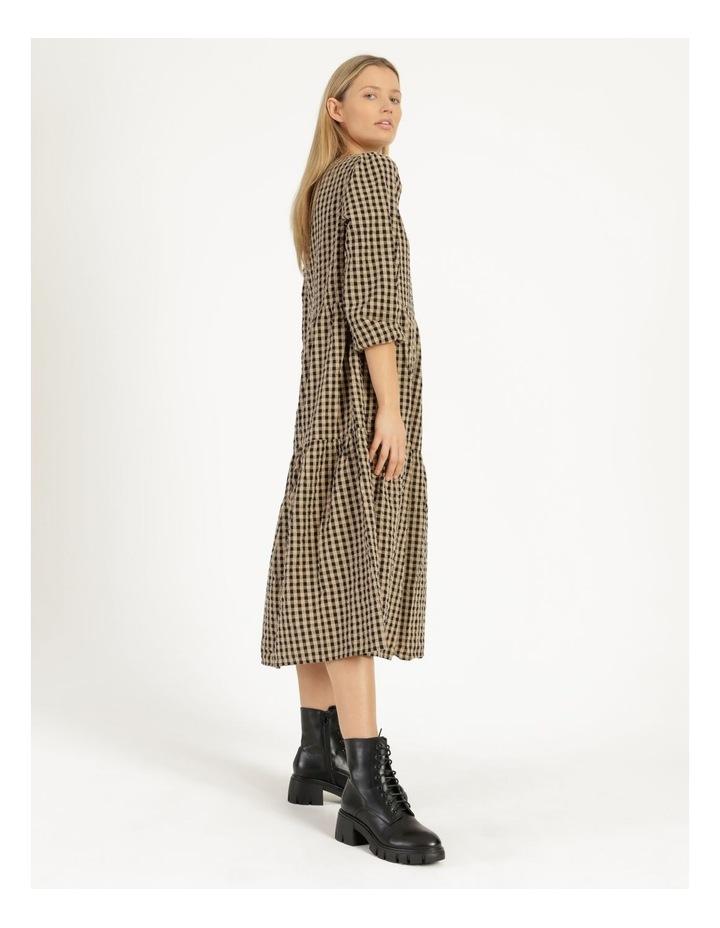 Fillipa 7/8 V-Neck Calf Dress image 2