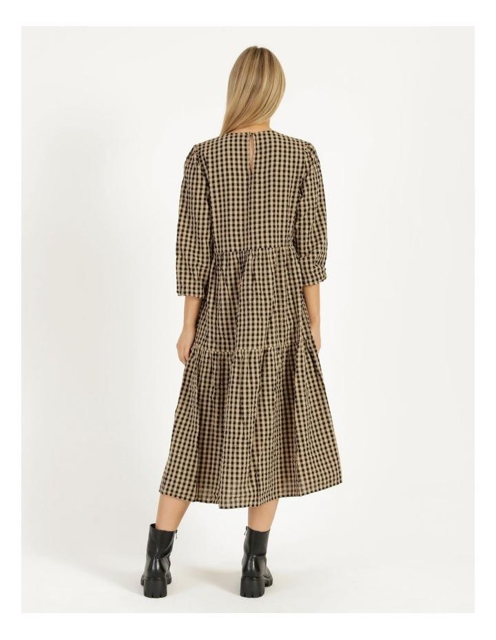 Fillipa 7/8 V-Neck Calf Dress image 4