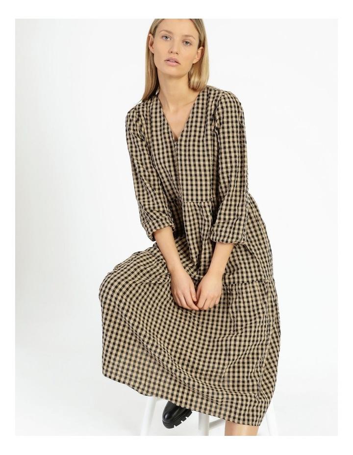 Fillipa 7/8 V-Neck Calf Dress image 5