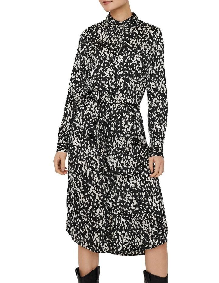 Becky Long Sleeve Shirt Calf Dress image 1