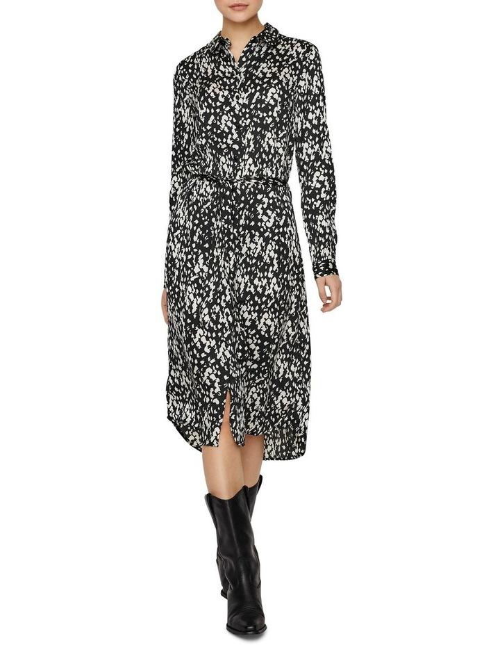 Becky Long Sleeve Shirt Calf Dress image 3