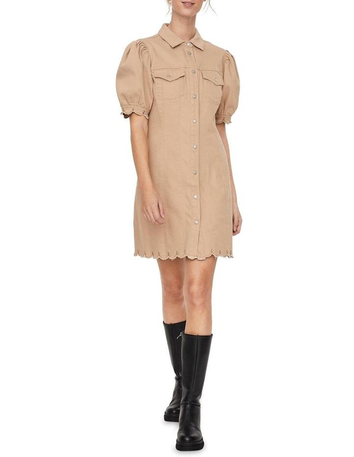Aviis Puff Short-Sleeve Dress image 3