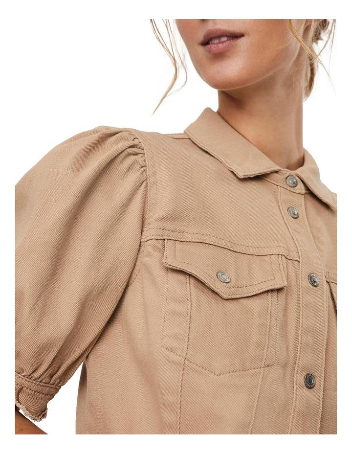 Aviis Puff Short-Sleeve Dress image 4