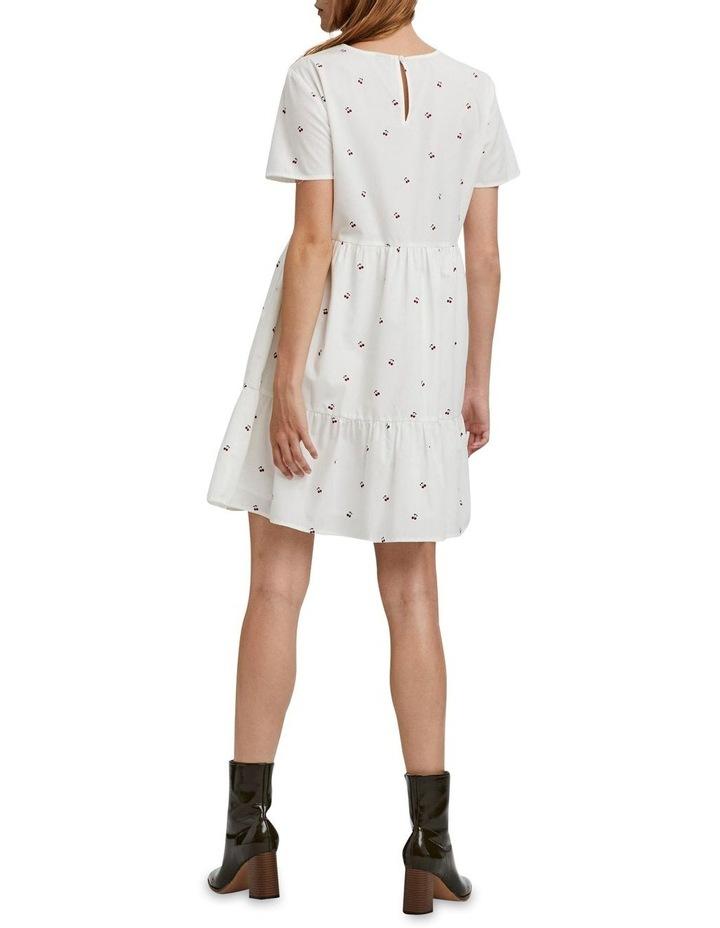 Cherry O-Neck Dress Bright White Cherry image 2
