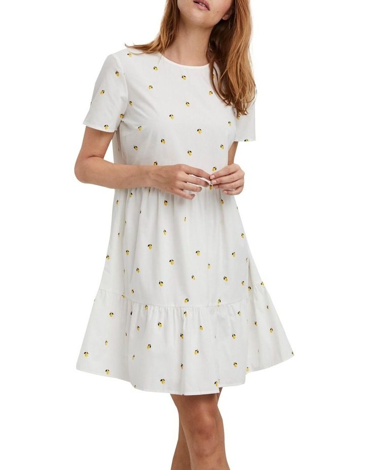Cherry O-Neck Dress Bright White Lemon image 1