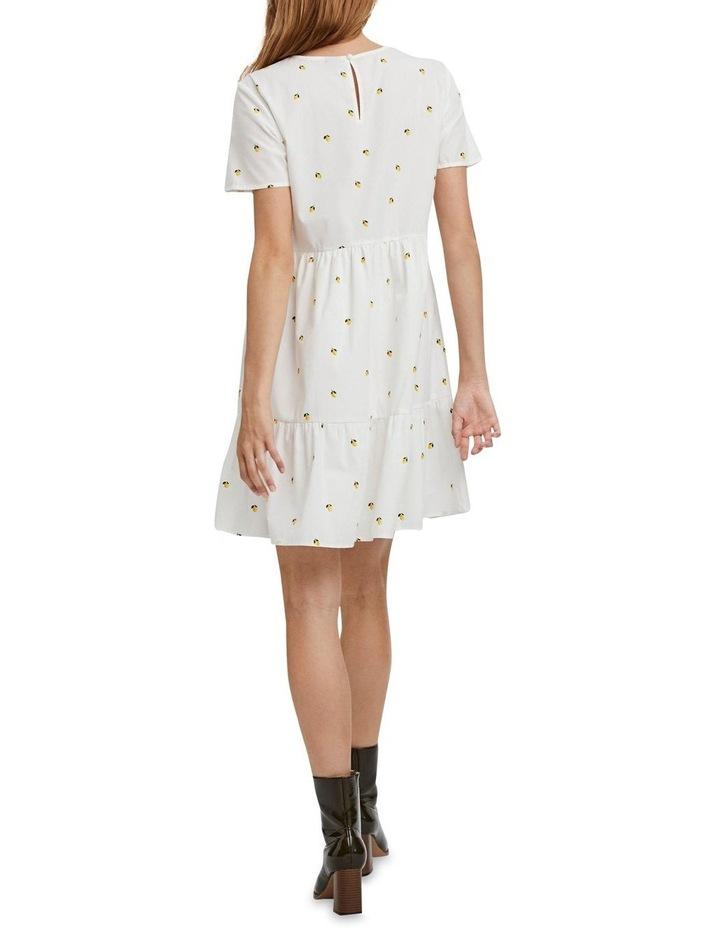 Cherry O-Neck Dress Bright White Lemon image 2