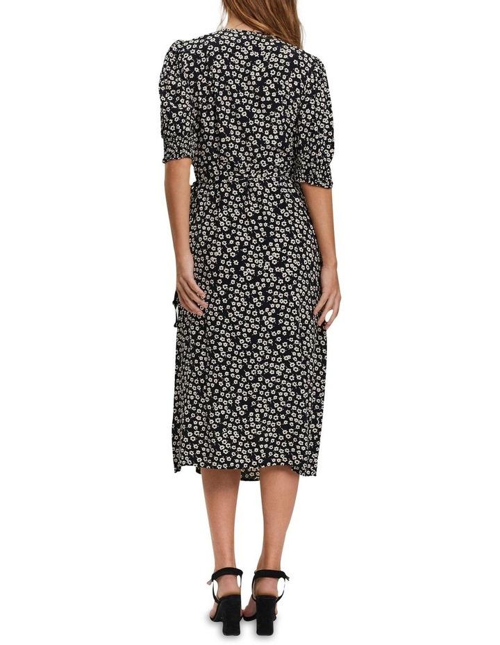 Elliot Short Sleeve Calf Wrap Dress Black image 2