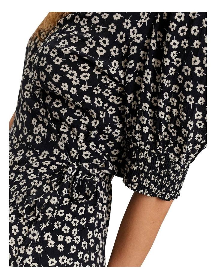 Elliot Short Sleeve Calf Wrap Dress Black image 5