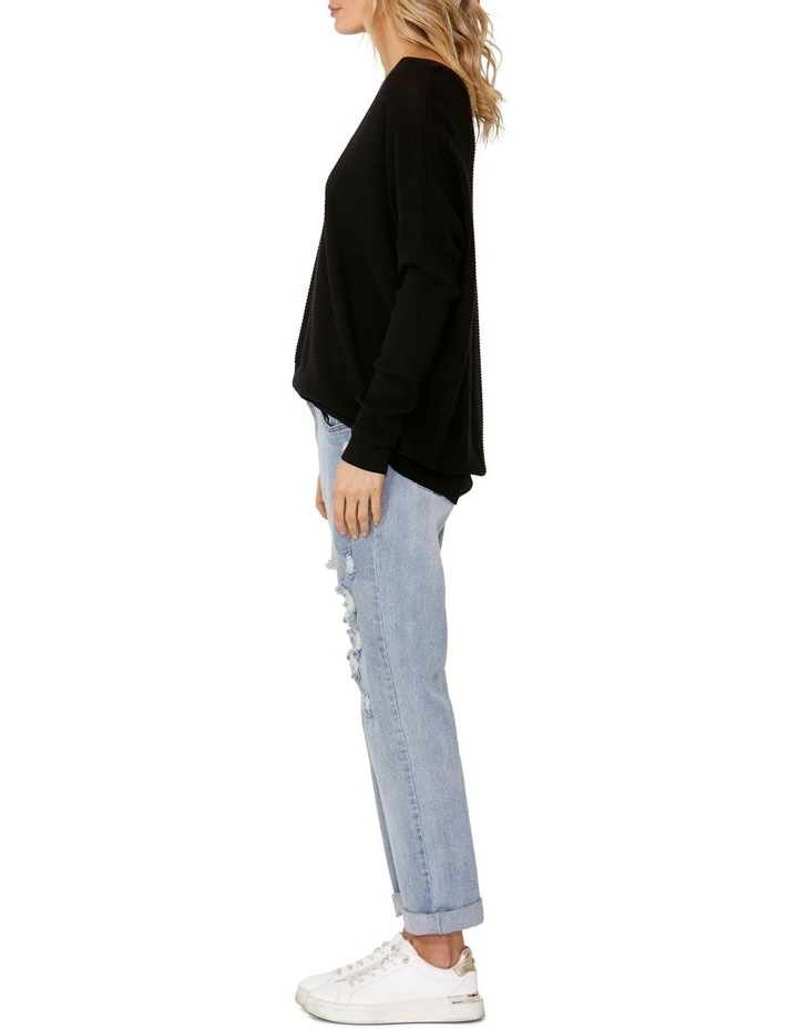 Milla Black Deep V-Neck Knit Jumper image 3