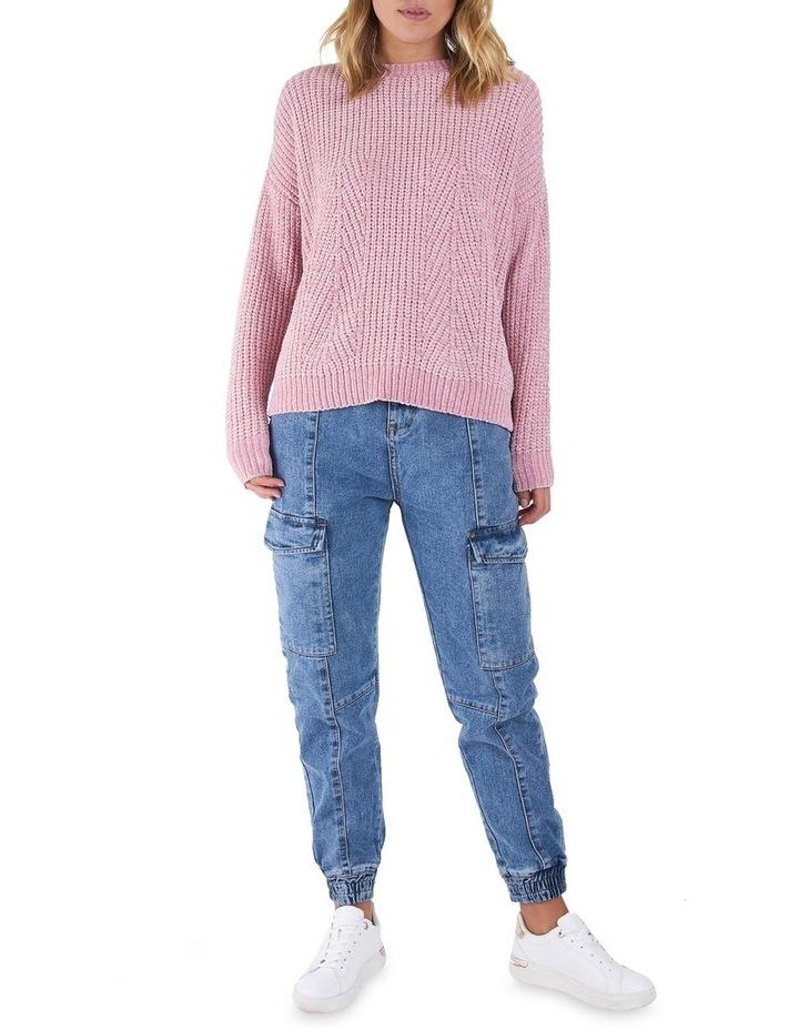 Angie Blush Pointelle knit Jumper image 1