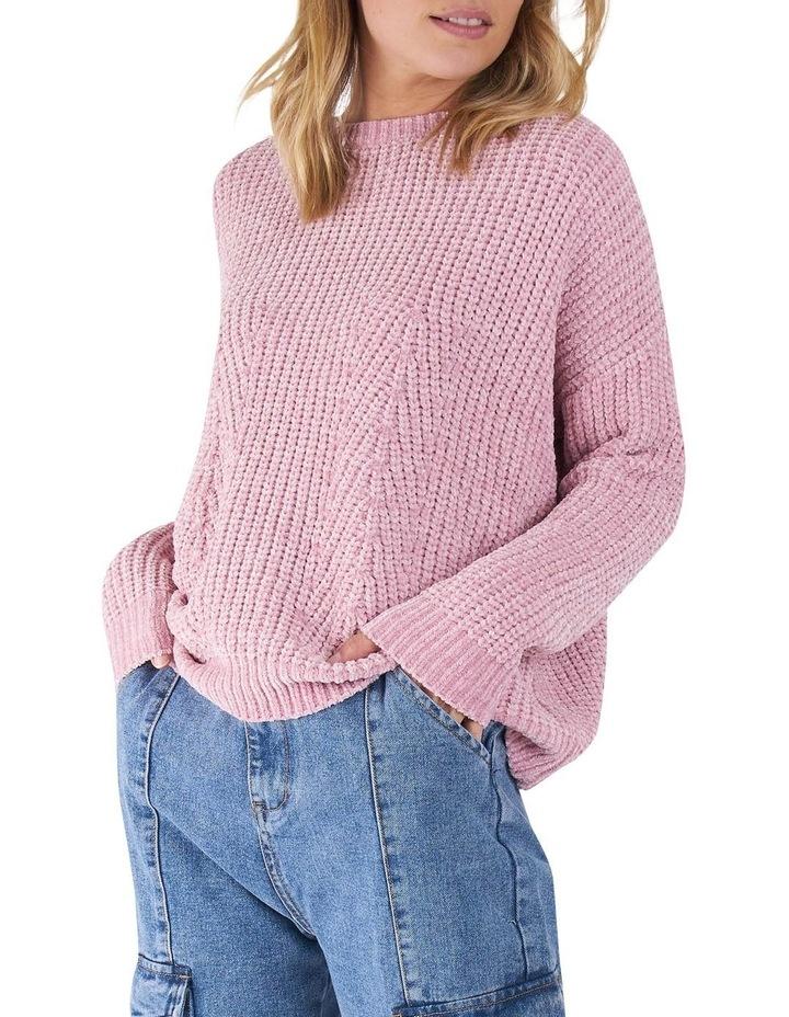Angie Blush Pointelle knit Jumper image 2