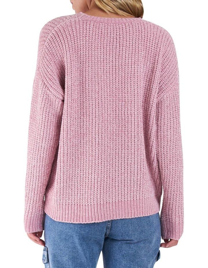 Angie Blush Pointelle knit Jumper image 3