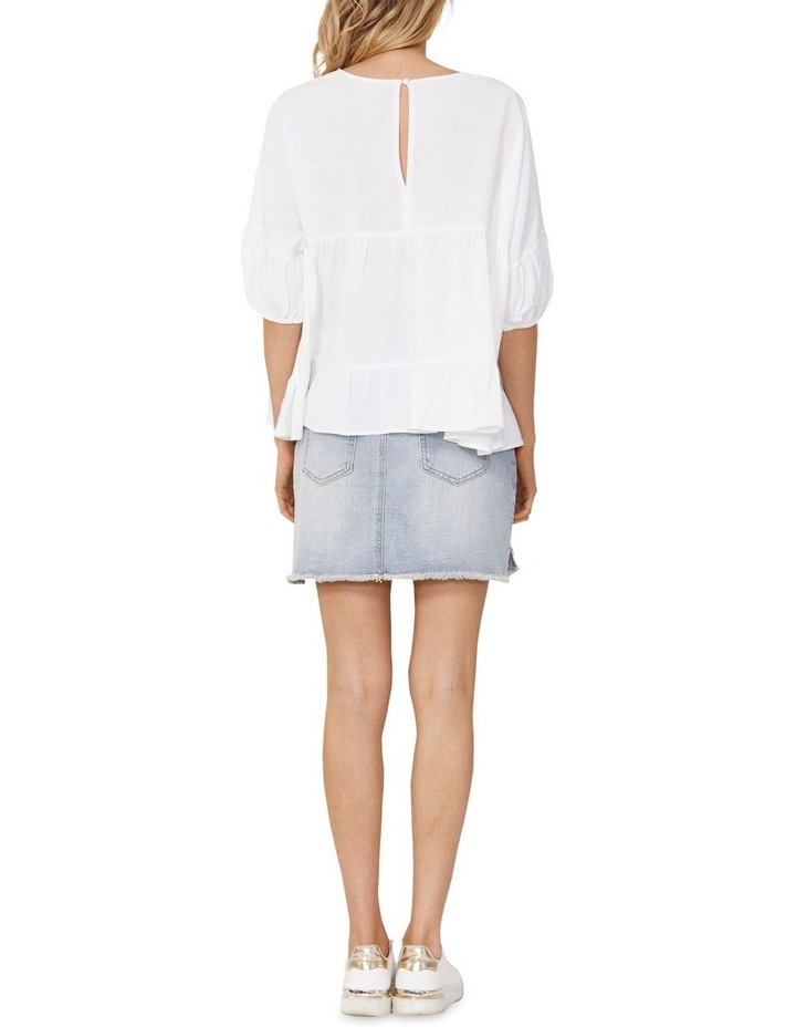 Elsie Cotton Blouse with Puff Sleeve White image 2