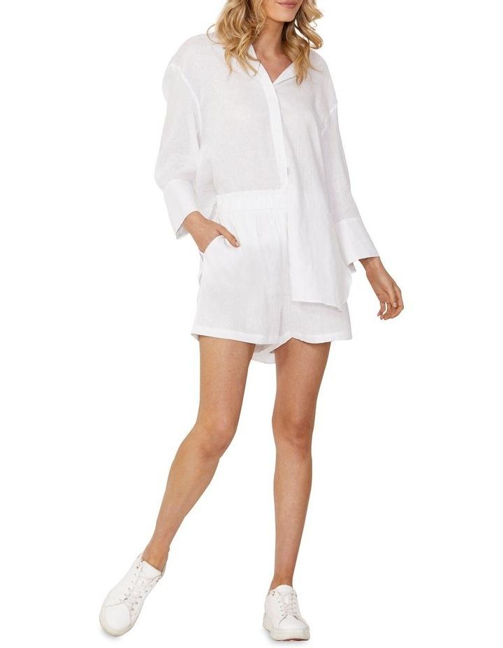 Eden Linen Boyfriend Shirt White image 1