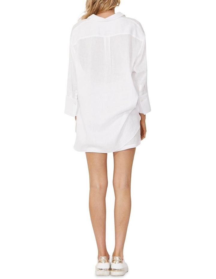Eden Linen Boyfriend Shirt White image 2