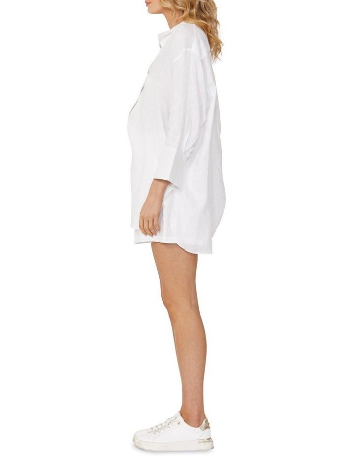 Eden Linen Boyfriend Shirt White image 3