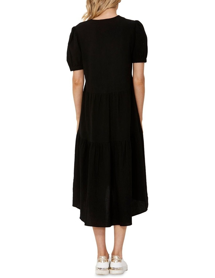 Elsie Tiered Midi Dress Black image 2