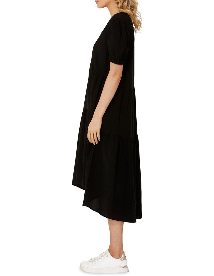 Elsie Tiered Midi Dress Black image 3