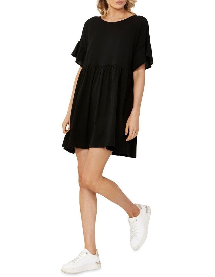 Lana Smock Mini Dress Black image 1