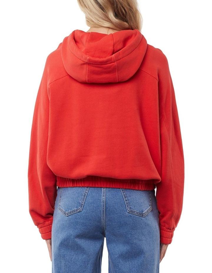 Classic Red Half Zip Hoodie image 3
