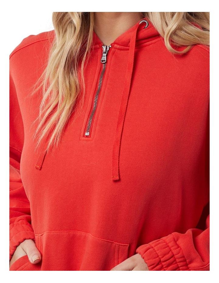 Classic Red Half Zip Hoodie image 5