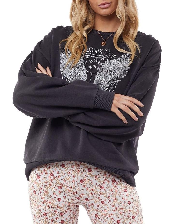 Harlow Black Oversized Sweater image 2