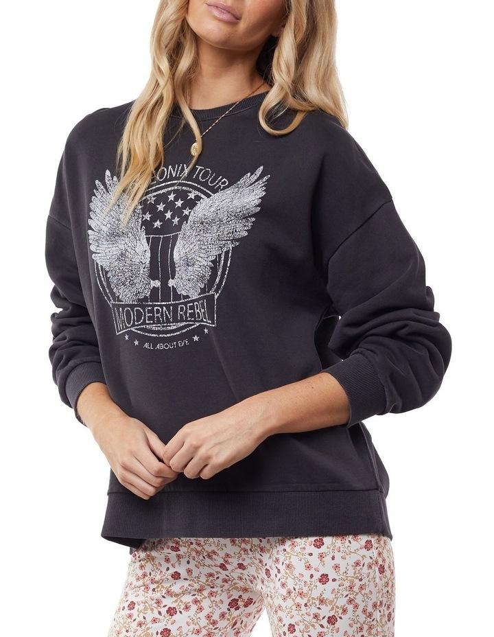 Harlow Black Oversized Sweater image 4