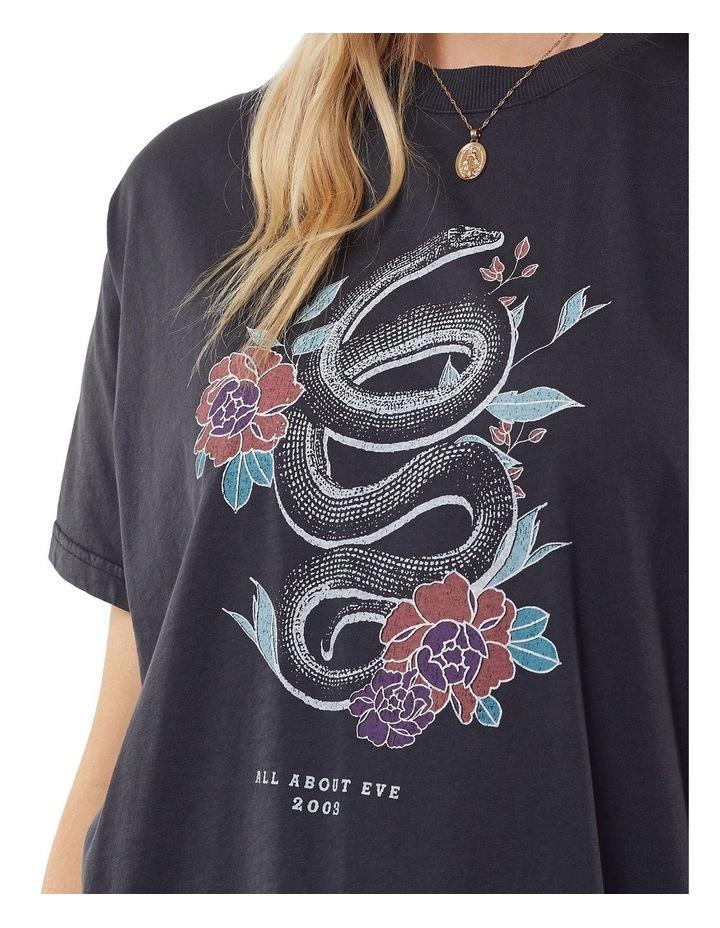 Serpent Oversized Tee Washed Black image 5