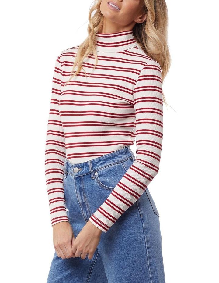 Skylar Stripe High Neck Top image 4