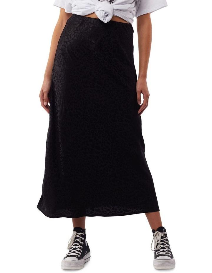 Leopard Slip Midi Skirt image 1