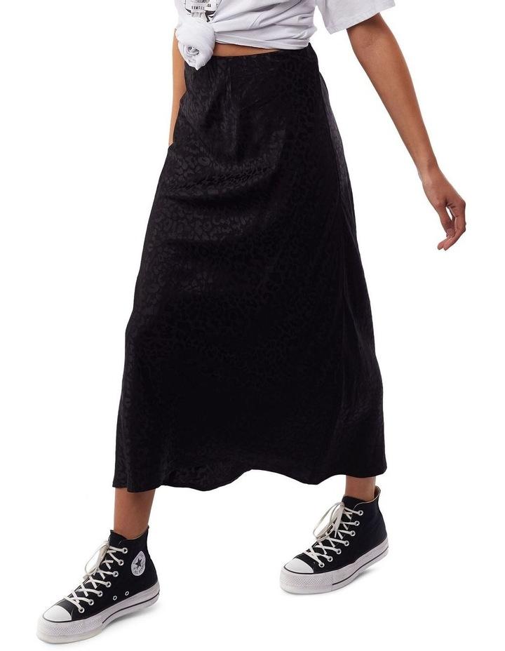 Leopard Slip Midi Skirt image 3