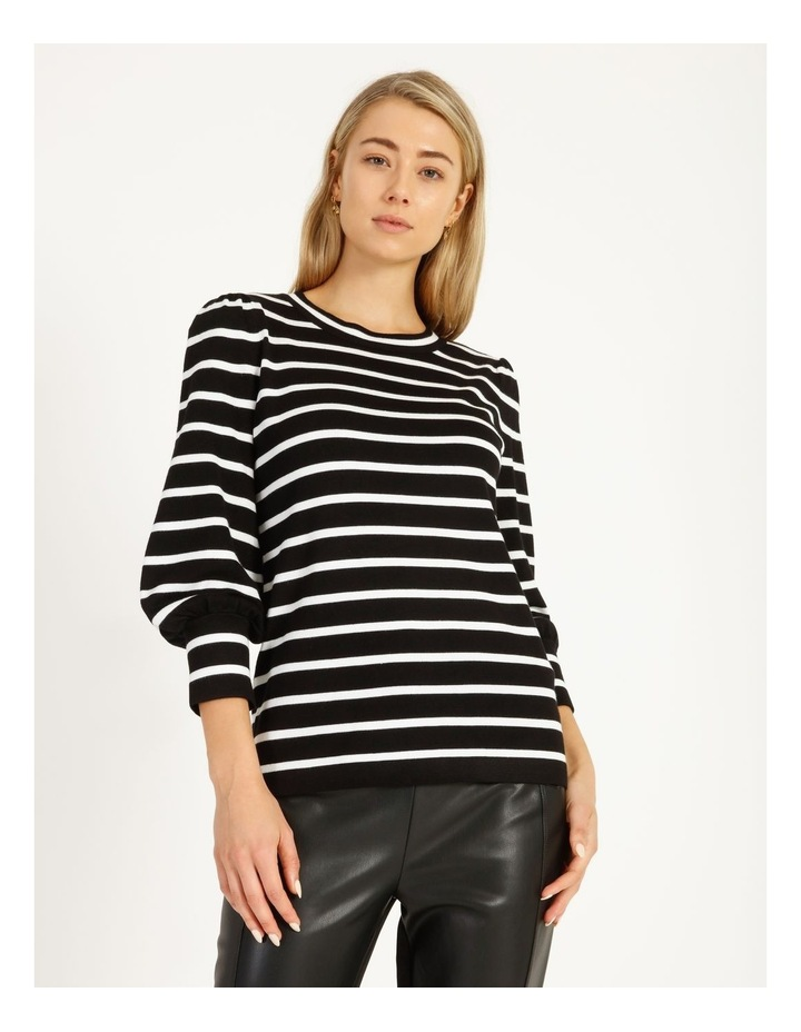 Puff Long Sleeve Striped Sweater image 1