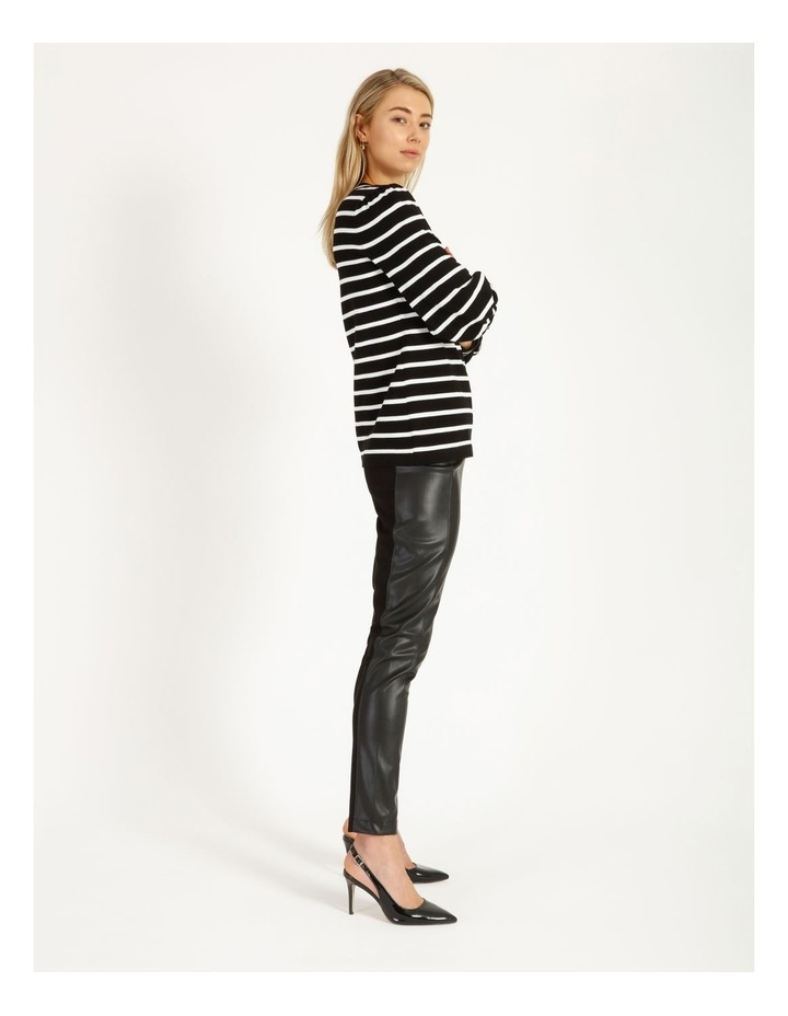 Puff Long Sleeve Striped Sweater image 2