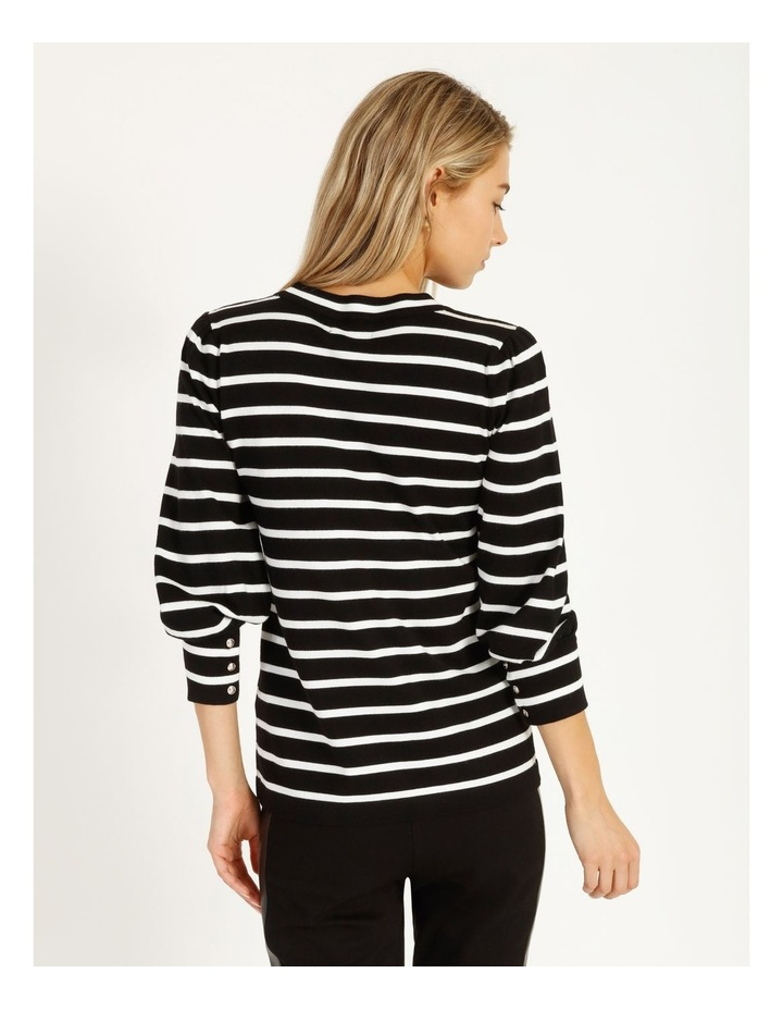 Puff Long Sleeve Striped Sweater image 3