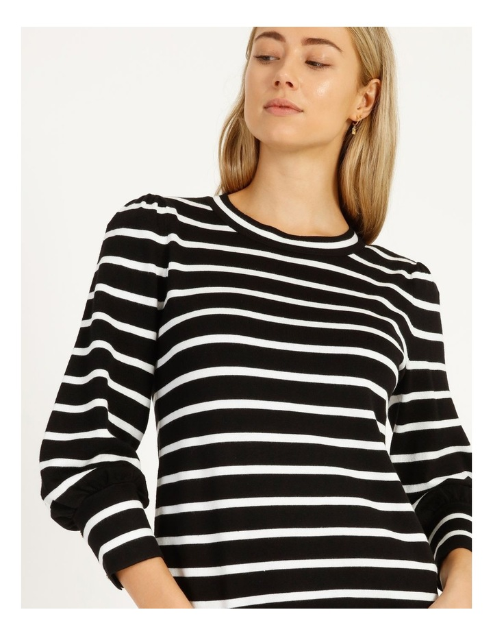 Puff Long Sleeve Striped Sweater image 4