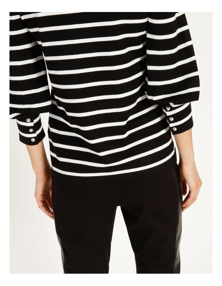 Puff Long Sleeve Striped Sweater image 5
