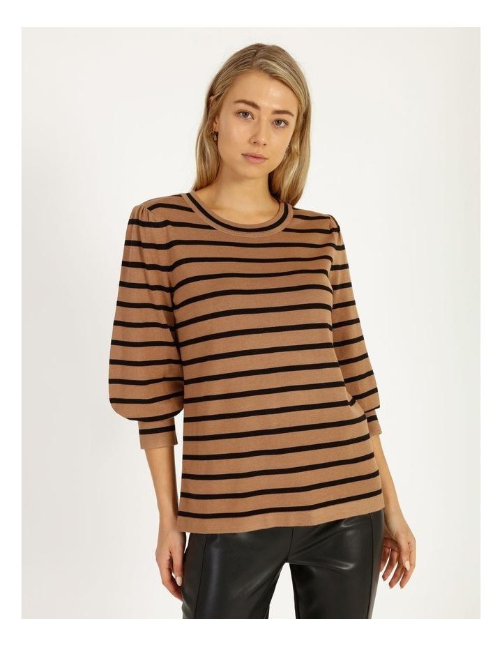 Puff Long Sleeve Stripe Sweater image 1