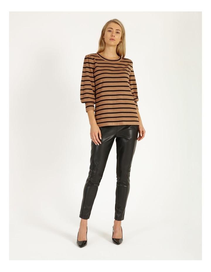 Puff Long Sleeve Stripe Sweater image 2
