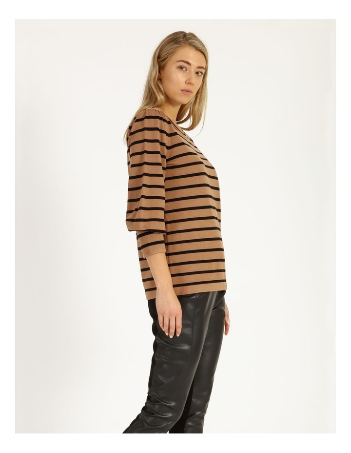 Puff Long Sleeve Stripe Sweater image 3