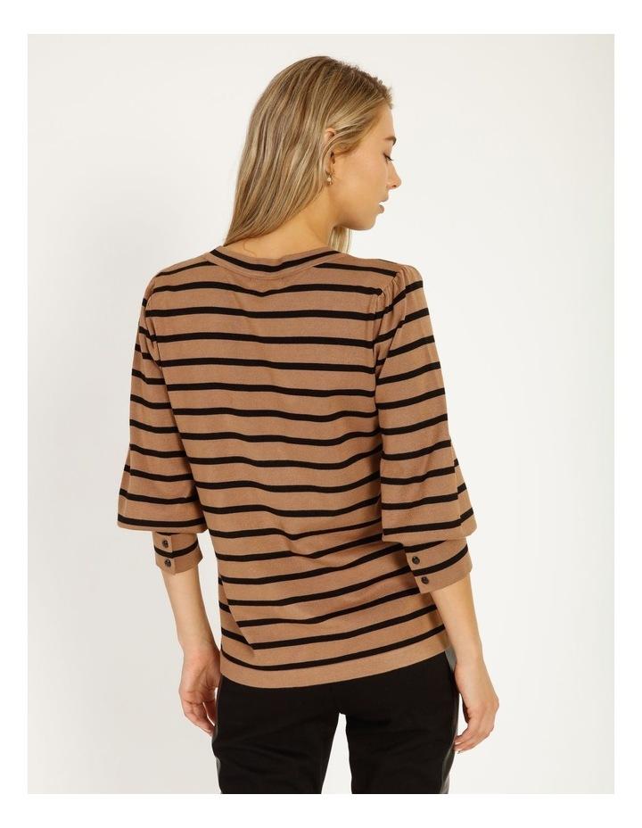 Puff Long Sleeve Stripe Sweater image 4