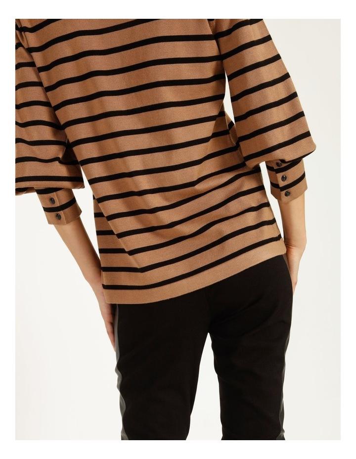 Puff Long Sleeve Stripe Sweater image 5